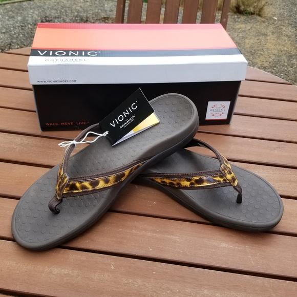 fc16766fb4 Vionic Shoes | New Leopard Tides Ii Flip Flops Sandals | Poshmark